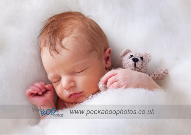 Newborn sleeping Highams Park